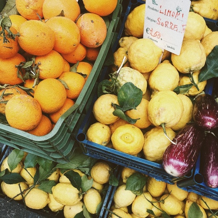 Lemon and orange stall