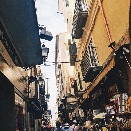 The main street in Sorrento.
